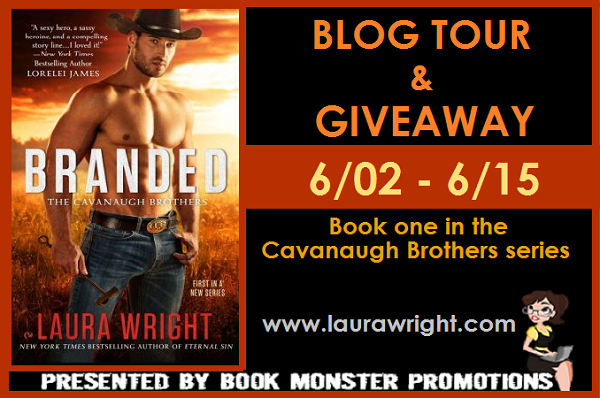 TOUR BUTTON - Laura Wright - BRANDED BOOKBLAST