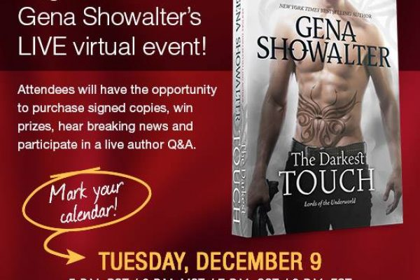 The Darkest Touch by Gena Showalter Virtual Signing Chat TONIGHT!