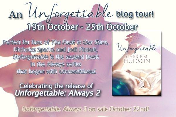 Unforgettable blog tour image