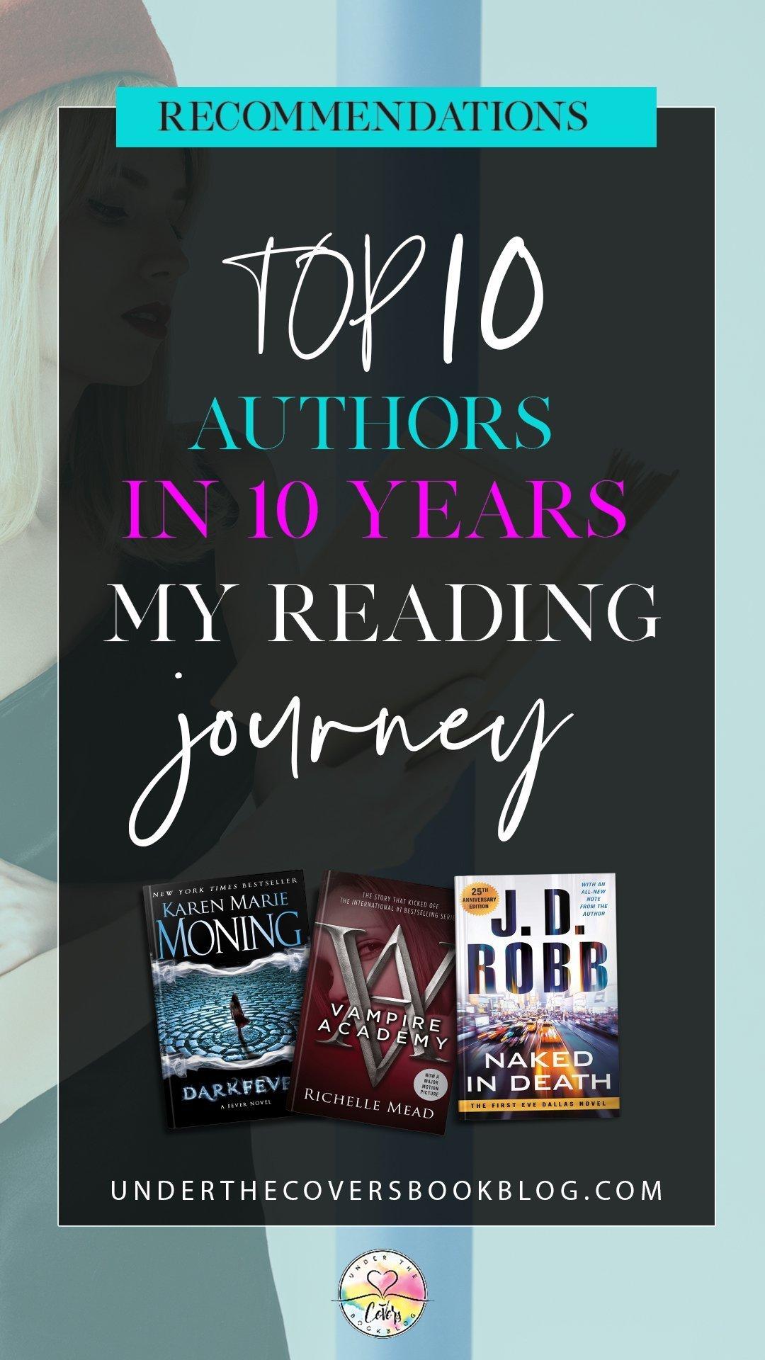My Reading Journey: Ten authors over ten years + Giveaway